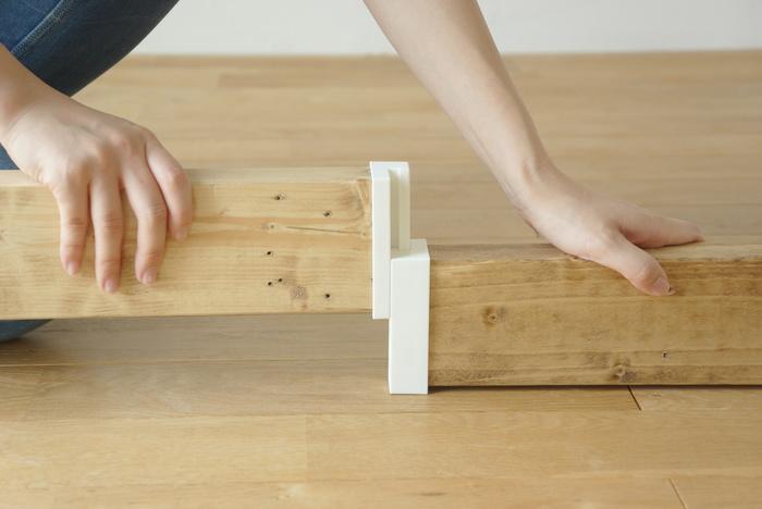 2×4の木材を2本つなげることが出来る便利なアイテムも。長い1本の木材を持ち帰れない人や、半端な木材の活用に◎