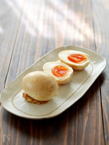 タンパク質と発酵食品を手軽にとれるのが、「味噌漬けたまご」。手軽に作れていいですね。あともうちょっと食べたい・・というときにぴったりです。