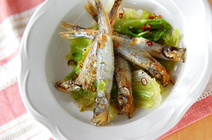 ピリ辛ペペロンチーノは男性にも喜ばれそう。ニンニク×オリーブオイルの香りもよくご飯だけでなくバゲットなどに合わせるのもおすすめです。