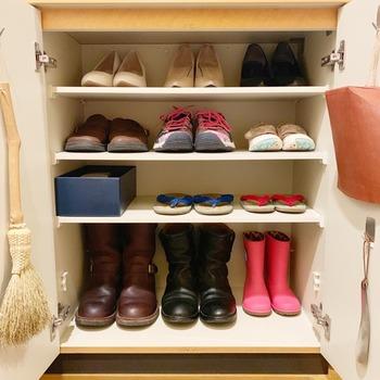 靴箱もスペースにゆとりがあると、サッと出かけることができますね。