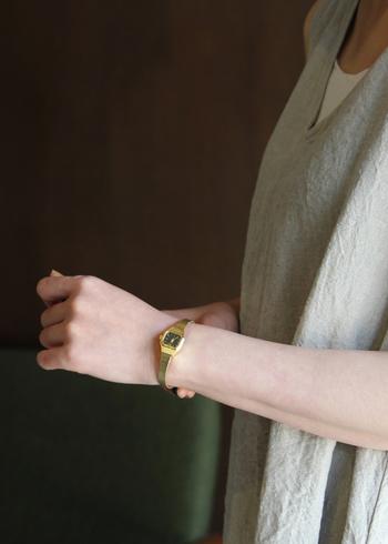 アクセサリー感覚で身につけられる、とっておきの『腕時計』。お気に入りの一本を手に入れて、素敵な時をともに刻んでいきませんか?