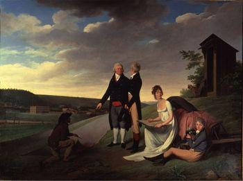 """実はこの町には、遡ること18世紀~19世紀、""""ジュイの布""""生みの親である、クリストフ・フィリップ=オーベルカンフ(1738-1815)が創業した工場があり、一大産業として栄えていました。着心地のよいコットン(木綿)生地で、比較的安価。先にあげた柄も大ブームとなり、類似品が出回るほど。  その工場で製造されたプリント生地こそが、正真正銘の「トワル・ド・ジュイ」。"""