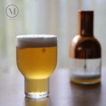 いつものビールでも、お気に入りのグラスに入れると気分もワクワクしますよね。ちょこんとした愛らしいフォルムのグラスで、1日の疲れを癒やしてみては?海外のビールとも好相性◎
