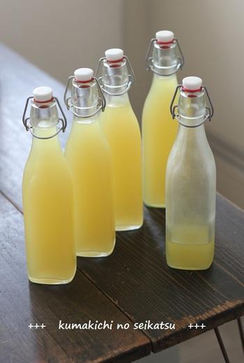 鮮やかなレモン色に染まった見た目にも爽やかな「リモンチェッロ」。