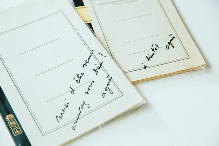 アニエス・ベーのサイン入りノート