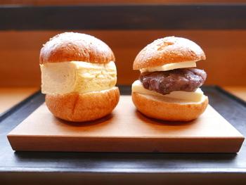 北野天満宮近くにあるカフェ。人気メニューのだしまきサンドとアンバターサンドは、ころんと可愛い形で、味も美味しくインスタ映えも叶います。