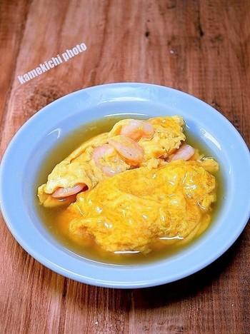 むきエビと卵の組み合わせも相性抜群。人気のエビ玉もあんかけにすれば、さらに本格的な一品に。ご飯がすすむメイン料理になります。