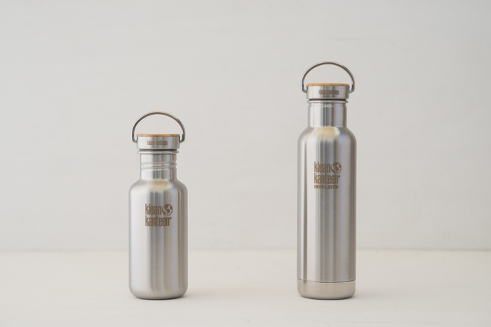 塗料とプラスチックを一切使用せず作り上げた、環境に優しいボトルタンブラーです。使用しているのはステンレス・バンブー・食品グレードのシリコン素材のみで、見た目の美しさだけでなく安全性にもこだわったアイテム。常温タイプと保冷タイプに分かれているので、用途や季節によって使い分けても良さそうです。