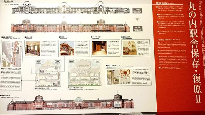 日露戦争後の威信をも示した東京駅は、大正期の未曾有の大震災にも無傷で残り、その堅牢さを見事に立証してみせましたが、第二次世界大戦の空襲によって、ドームや3階位部分は破壊、焼失しました。  戦後、2階建の駅舎で再建された東京駅は、高度経済成長期には東海道新幹線を開通させ、首都東京の玄関口の役割を果たしてきました。