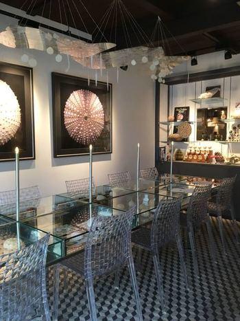 西大路御池駅近くにある、鉱物や動植物の標本を扱うお店に併設されたカフェ。