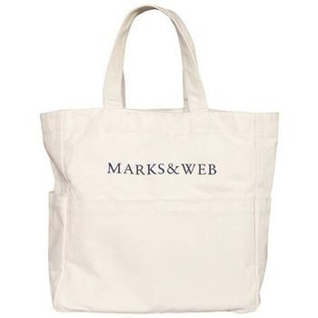 大容量の大ぶりなキャンバス地のショッピングバッグ。厚めの生地でとても丈夫です。お買い物バッグとしてはもちろん、8つのポケット、内側の底板とループ付きでアウトドアや旅行バッグ、マザーズバッグにも。