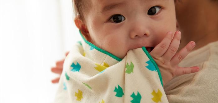ガーゼで手着ているタオルだから、小さな赤ちゃんのお手入れやブランケット代わりにぴったりです。お口に入れても安心なのがママには嬉しいポイントです。