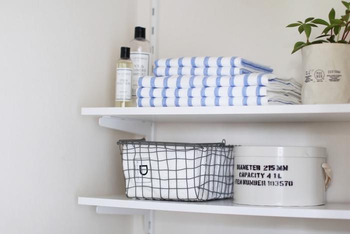 シリーズでフェイスタオルのサイズもあるから、揃えれば一層洗面所がスッキリしそう。お揃いのタオルで気持ちの良いお風呂上りになりそうです。
