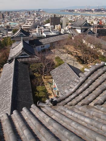 大天守最上階に上ると、和歌山市内の景色を望むことができます。 また、和歌山城内には歴史博物館があり、紀州の歴史にまつわる資料が展示されています。