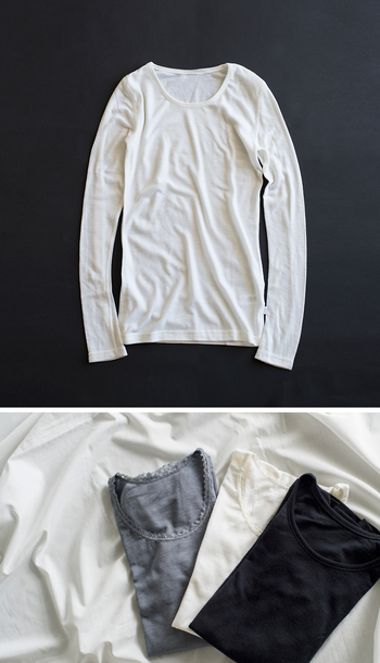 1963年にデンマークで誕生したjoha。登山家が愛用するなど、吸湿性にすぐれ体の温度を適切に保つ、機能素材であるウール。その中でも最高品質のメリノウールを使用することで肌当たりも非常に優しく、科学繊維を着たときのようなカサカサとは無縁な一着です。