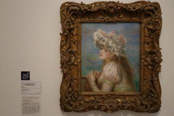 一部、撮影の許可が出ている作品もあります。こちらはルノワールの作品。印象派の名画を、間近で見ることができる、嬉しい美術館です。