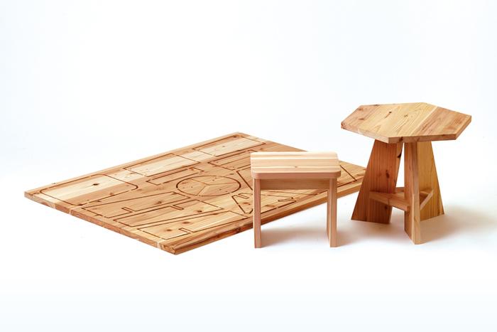 子どもサイズのかわいらしいテーブルセット。小さなお子さんにぴったりのサイズ感で、自分専用のテーブルでお絵かきしたり工作したり、本を読んだりできます。
