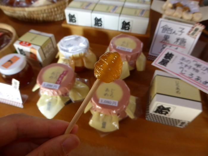 粘度が低い「あわあめ」、練り上げて粒状にした「飴ん子」などもあり、金沢駅や小松空港などでも購入できます。