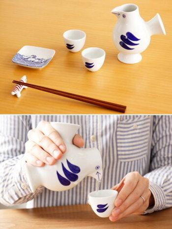 酒器としても陶器は定番です。口当たりが柔らかく、サイズはもちろん色やデザインが豊富に選べるのもうれしいですね。