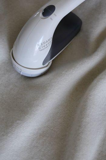 毛玉が広範囲に広がっているときも毛玉取り器を活用するといいですね。焦らず、丁寧にかけていくことがきれいに仕上げるコツです。