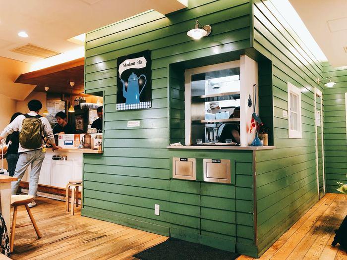 北欧デンマークスタイルの可愛いカフェ、マダム・ブロは朝7時から開いているため、朝早くの出張などの時に、モーニングもおすすめです。