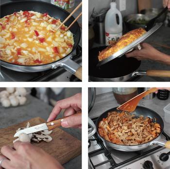 連載の中では、写真付きで料理の工程も見られます。調理器具の活躍シーンもあるから、参考になりそう。