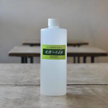 コットンパックにぴったりの大容量化粧水。ヘチマは鹿児島県産の無農薬・有機栽培のものが使われています。