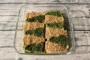お年始のごちそうにぴったりな「松風焼き(のしどり)」 絹豆腐を混ぜているので、やわらかい食感です。見ためもキレイで喜ばれます。