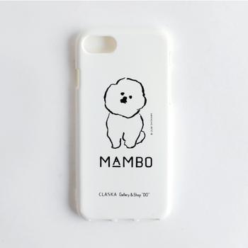 """""""MAMBO(マンボ)""""シリーズのiPhoneケースのデザインは正面と横向きの2種類の絵柄があります。衝撃に強いTPU(熱可塑性ポリウレタン)素材なのも嬉しい。"""