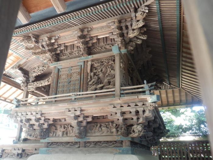 さらに、埼玉県や川越市に指定された歴史的価値のある文化財が多数納められていることも魅力。本殿にある緻密で見事な「江戸彫り」彫刻は、埼玉県指定の重要文化財です。この彫刻が一般公開されるのは年に一度の2時間だけなのだそう。