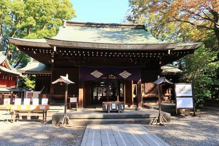 """川越氷川神社は、約1500年前に創建されたといわれています。室町時代に川越城が築城されてからは、城下の守護神と藩領の総鎮守として歴代城主によって篤く崇敬されたのだそう。その後も時代を超えて人々に親しまれている神社です。  また、昔から縁結びの神様として知られていたことも特徴。川越氷川神社には五柱の神様が祀られていて、これらの神々はひとつのご家族であることから、""""家族円満の神さま""""や""""夫婦円満・縁結びの神様""""として信仰されているんですよ。"""