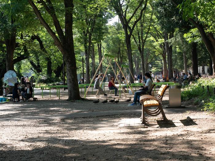 お散歩していると素敵なショップや場所に出会えちゃうのも吉祥寺の魅力!古着屋さん巡りをしつつお散歩するのが楽しくて、いつもよりたくさん歩けそう。ちょっと歩きすぎて疲れた…そんなときは井の頭公園のベンチでひとやすみ♪古着屋巡りの小休憩に、自然豊かな公園の中で、ランチやおやつを楽しむのもいいですね。