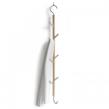 コートや小物をかけるのに便利なハンギングラック。下の部分にもうひとつ連結して使うこともできます。繊細で美しいデザインが素敵です(耐荷重約10㎏)。
