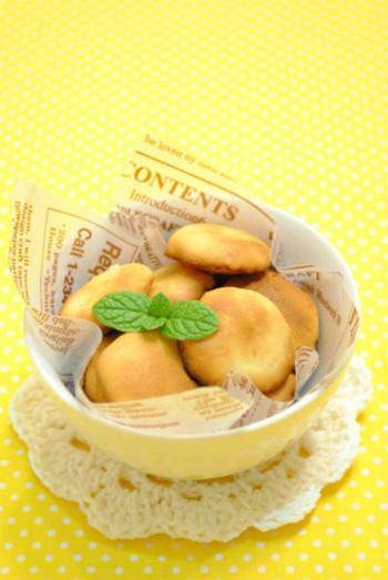 クッキーも魚焼きグリルを使ってサクサクに焼き上がります。ホットケーキミックスなどを使えば、さらに簡単ですね。