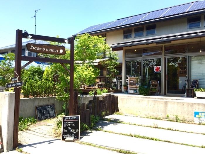 一軒家をリノベーションしてオープンしたカフェ「Beans mama(ビーンズママ)」。ランチもスイーツもオシャレで可愛いと人気のお店です。もちろん味も美味しいので、お腹いっぱい食べられるのも人気のヒミツです。