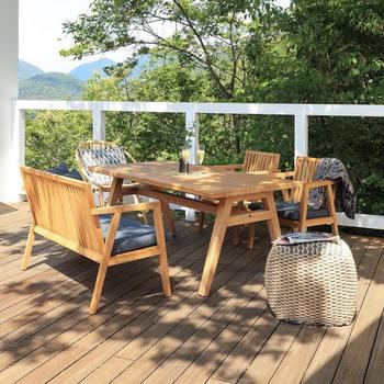 ちゃんとした庭でなくても、テラスやベランダ広ければ、庭のように楽しめるかもしれません。