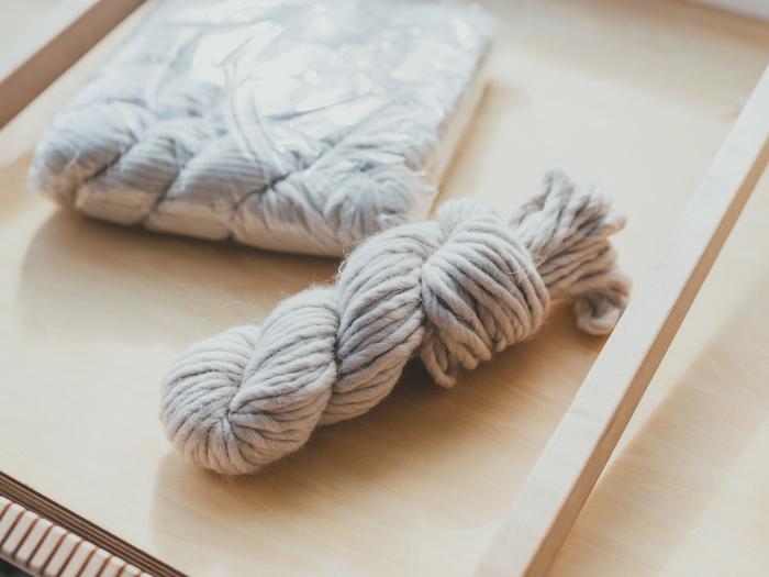 ずっと気に入って購入していたペルー産の毛糸。現在は入手困難になってしまったのだそう