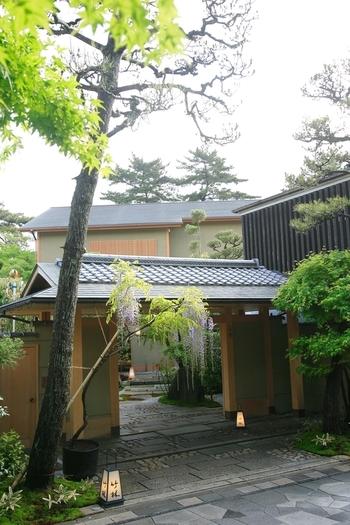 平等院のすぐそばにある京懐石の名店。アクセスのよさと京都らしい上質な和食が食べられることで人気です。
