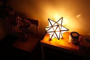 見た目が可愛いデザイン性のあるランプは反射する光がとてもきれいです。 リラックス空間に置いておきたいですね。