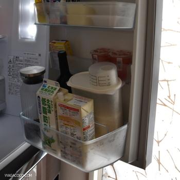 白米は劣化しやすいので冷蔵庫保存が望ましいのですが、これなら冷蔵庫のポケットにもすっきり収まります。