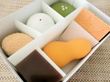 もなか以外の和菓子ももちろん絶品!生和菓子の詰め合わせなら、いろいろな味を楽しめます。ずっしりとした素朴な和菓子です。