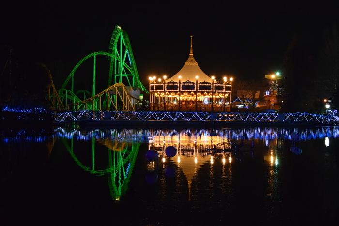 冬に開催される「ウインターイルミネーション」も人気。遊園地のアトラクションのライトアップとたくさんのイルミネーションは、まるで宝石箱のようのキラキラと輝きます。今年は、2月11日(祝日)までの土・日・祝日に開催されていますよ。