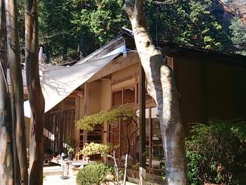 陶芸家の工房と住まいを改装した、森の中の一軒家カフェ。身も心も爽やかな空気に満たされて、のどかな時間を過ごせます。