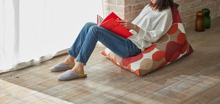 天井の低い狭いロフトにおいても邪魔にならないサイズ感がいいですね。 ゆったりソファのような感覚で座ることができます。