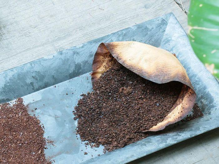 使い終わったコーヒー粉、すぐに捨ててしまうのはもったいない!なんとコーヒーの粉には消臭効果があり、炭以上の効果も期待できるんだそうです。使用済みのコーヒー粉を天日干しでよく乾燥させ、小さな袋に詰めるだけ。