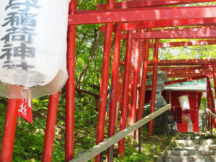 西の河原公園内にある「草津穴守稲荷神社」は、メディアで紹介されたこともあり今注目を集めている神社。境内に置かれている「招福の砂」は、たとえば病気平癒の場合は床の下に、新築・増改築には敷地の中心にまくとご利益があるとされています。
