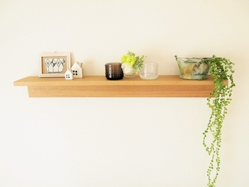 お気に入りの雑貨に、観葉植物をプラスすれば空間にみずみずしさがプラスされます。