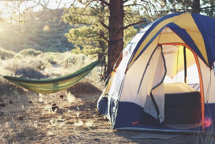 オートキャンプ券もあるので、テントを張ってのんびり楽しめます。