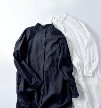 着るだけでコーデが決まるワンピース。春先までめいいっぱい楽しむにはシャツタイプがおすすめですよ。