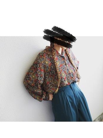 古着は既製品とは違って、オリジナリティのある一点ものばかり。雑誌ではあまり見掛けることのないようなデザイン性の高いアイテムとの出会いも!